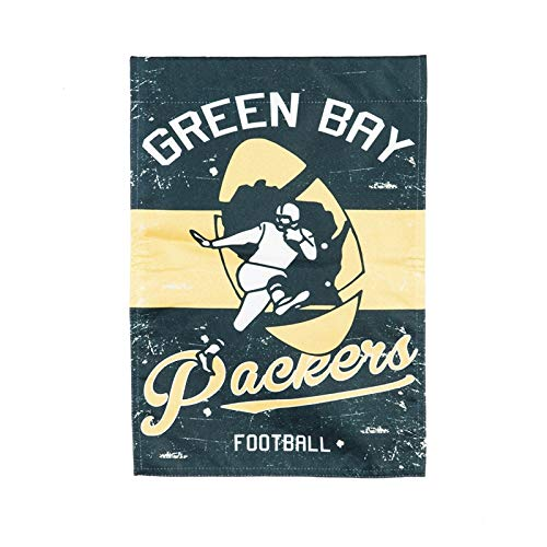 (Team Sports America Green Bay Packers Vintage Linen Garden Flag)