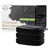 O Naturals 3-Piece Detoxifying Charcoal & Peppermint Soap. 100% Natural. Face, Hands & Body Wash. Pore Refining, Helps w/ Acne, Blackheads, Blemishes & Oily Skin. Made in USA. Triple Milled Vegan 4 oz