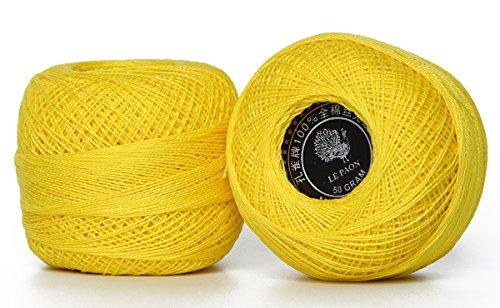 LE PAON 50g Bulk pearl cotton Crochet thread in balls Friend