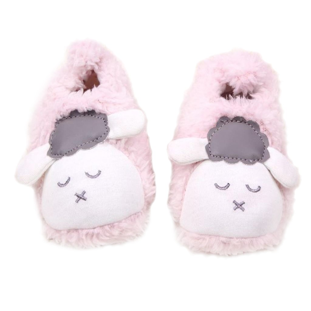 MagiDeal Coral Fleece BabyToddler Shoes Soft Sole with Sheep Pattern - Pink,b, 10-12cm STK0155004597