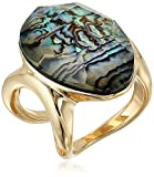 Robert Lee Morris Midnight Abalone Statement Ring