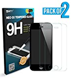 MTT [ Pack of 2 ]Tempered Glass Screen Protector Guard for Apple iPhone 5 5C 5S (Pack of 2)