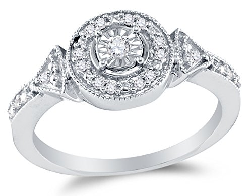 Sterling Silver Diamond Circle Engagement product image
