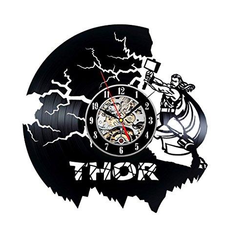 - Thor Creative Vinyl Record Wall Clock Bedroom Wall Décor