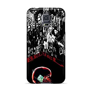 Perfect Hard Phone Case For Samsung Galaxy S5 With Customized Trendy Metallica Pattern VIVIENRowland
