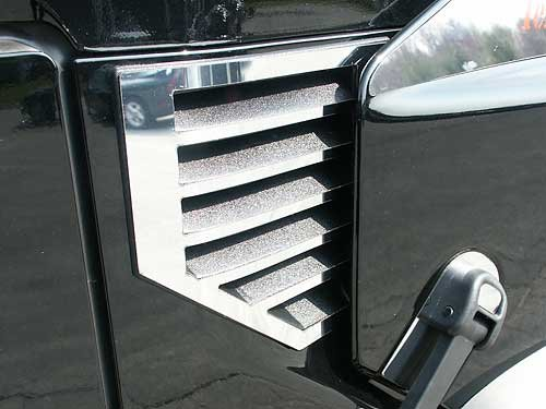 QAA FITS H2 2003-2006 HUMMER (2 Pc: Stainless Steel Cowl Vent Accent Trim, SUV, MUST NOT HAVE ANTENNA) HV43002