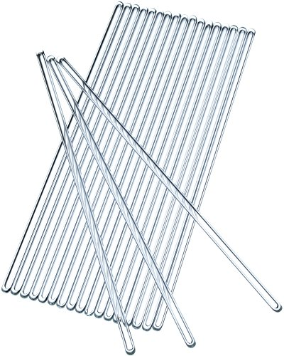 Glass Stirring Rod 250 mm (9.8 inch) Glass Stir Sticks Pack of 20 (Glass Stir Sticks)