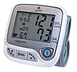 Pivit Automatic Wrist Blood Pressure Monitor | 4 User 396 Total Memory with Averages | Irregular Heartbeat Detection | Large 6 Color Option LED Display | Clinically Accurate Vitals Within Seconds
