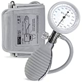 Balance Sphygmomanometer Adult Blood Pressure Monitor, Large Cuff Sizes, Travel Case, & Bulb Kit. Use with Stethoscope