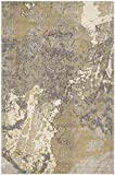 Safavieh Monaco Collection MNC219S Modern Abstract Vintage Ivory and Grey Distressed Area Rug (6'7″ x 9'2″) For Sale
