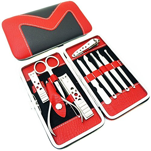 Stainless 10-in-1 Manicure Set with Case Set of 3 - 8