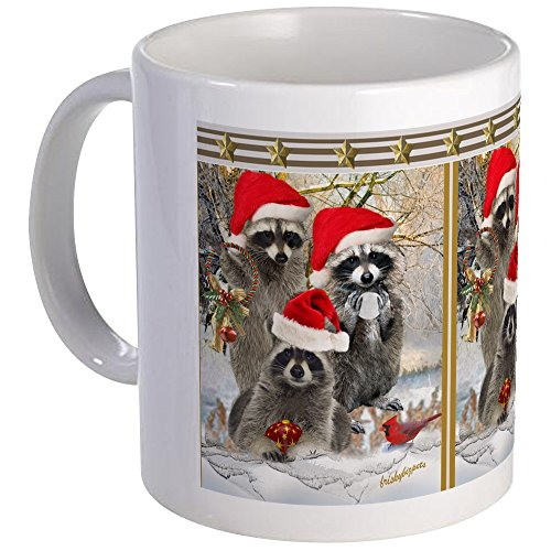 CafePress - Raccoon Trio A Winter Day Mug - Unique Coffee Mug, Coffee Cup (Trio Raccoon)