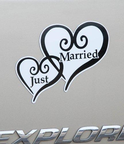 Just Married Heart Car Magnet VL30071