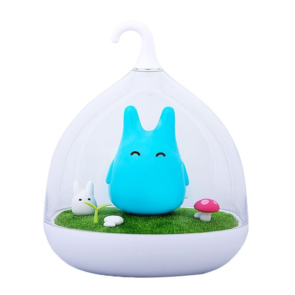 Children's Night Lights Hand-held Design Touch Sensor Vibration Birdcage Lamp Totoro Bedside Night Lights Charging for Kids, Baby ,Valentines Gift,Outdoor Lamp Blue