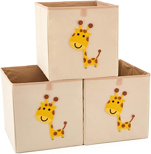 EZOWare 3 pcs Caja de Almacenaje, Caja Cubos Decorativos de Tela ...