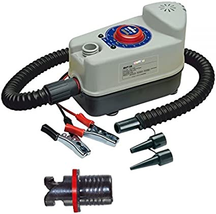 Amazon Com Bravo 12v Single Stage High Pressure Electric Pump For Inflatable Sups Air Pads And Scout365 Boats Sports Outdoors