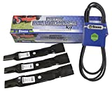 Stens 785-712 Metal Mower Deck Maintenance Kit, Includes 265-238 OEM Replacement Belt and 3 of 330-445 Hi-Lift Blade