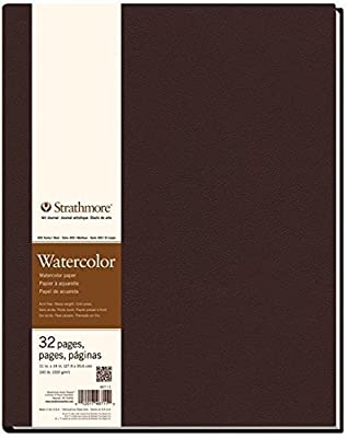 "Strathmore STR-467-11 32 Sheet No.140 Watercolor Art Journal, 11 by 14"""