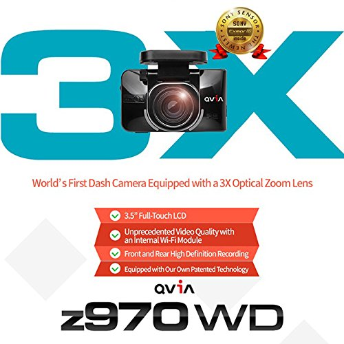 Lukas QVIA z970G z970 WD Car Black Box 2Ch Dashcam, (Wi-Fi Networking, 2.1M Effective Pixels car Recorder) - 24GB