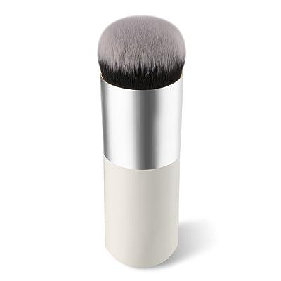 1 pcs makeup brush BBsmile Cepillo cosmético Cepillo de maquillaje facial Cepillo de polvo Herramienta de cizalla Blush Brushes (Blanco)
