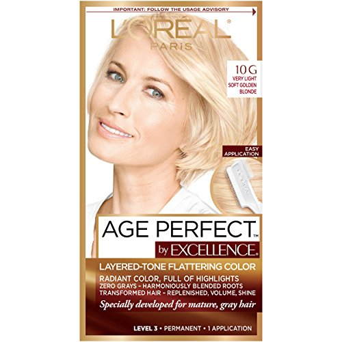 10g Light - L'Oreal Paris ExcellenceAge Perfect Layered Tone Flattering Color, 10G Very Light Soft Golden Blonde