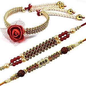 Exclusive Bhaiya Bhabhi Rakhi Set of 3 | Rakshabandhan Rakhi Gift