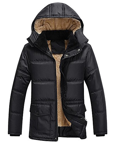 Winter Black ZhuiKun Jacket Parka Outwear Outdoor Hooded Jacket Warm Thick Men Coat gCdCTq