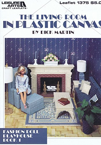 Fashion Doll Living Room Plastic Canvas Cross Stitch Chart/Pattern – Dick Martin by Leisure Arts