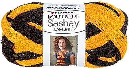 Red Heart Boutique Sashay TEAM SPIRIT Yarn Gold//Black 1 Skeins lot New FREE SHIP
