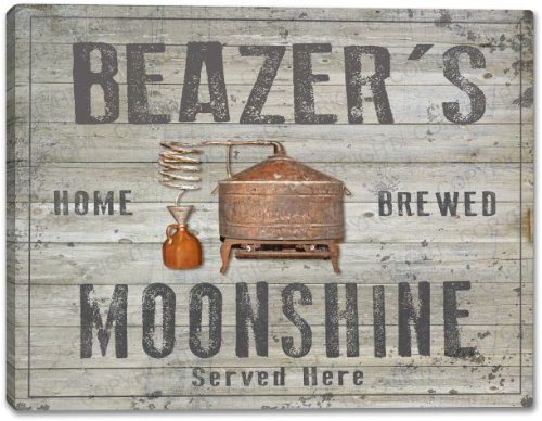 Beazers Home Brewed Moonshine Canvas Print 24  X 30