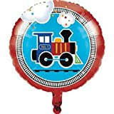 All Aboard Train Themed Kids Birthday Party Decorations and Photo Booth Props 4-Piece Bundle