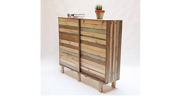 Mueble auxiliar almacenaje hecho con madera recuperada ...