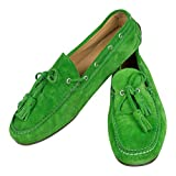 Ralph Lauren Italy Green Suede Leather Boat Shoes Size 9