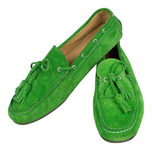 Ralph Lauren Italy Green Suede Leather Boat Shoes Size 9 by sutor mantellassi