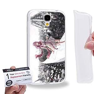 Case88 [Samsung Galaxy S4] Gel TPU Carcasa/Funda & Tarjeta de garantía - Guilty Crown GC Funeral Parlor Yuzuriha Inori 1198