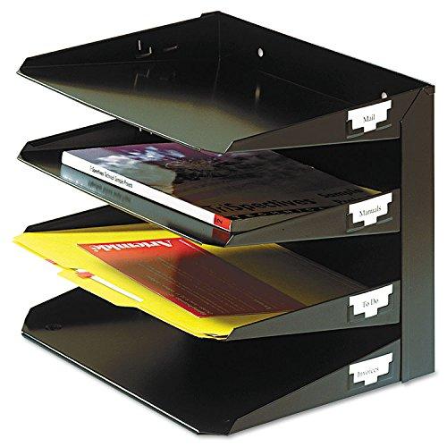 - SteelMaster 264R4HBK Steelmaster Multi-Tier Horizontal Letter Organizers, Four Tier, Steel, Black