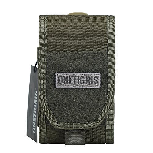 "OneTigris Large Smartphone Pouch for 5.5"" Phone with Otterbox or Survivor Case (Ranger Green)"