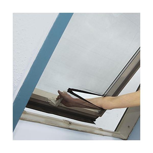 51DW69CeYbL easy life Fliegengitter für Dachfenster 140 x 170 cm in anthrazit Eingriff mit Reißverschluss - auch in weiß wählbar
