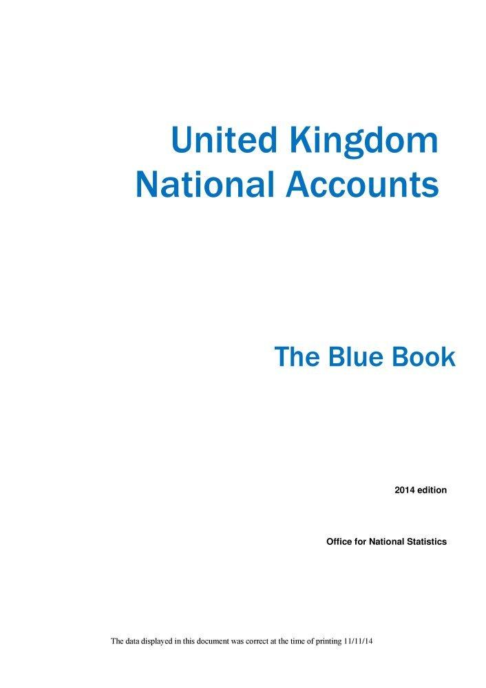 Download United Kingdom National Accounts: The Blue Book 2014 pdf