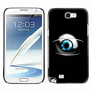 Planetar? ( Sci Fi Blue Eye ) Samsung Galaxy Note 2 II / N7100 hard printing protective cover protector sleeve case