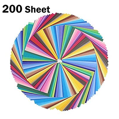 Zicome 50 Color 200 Sheet Origami Paper
