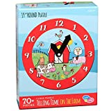 C.R. Gibson Farm Animals Clock and Jigsaw Puzzle for Kids, 70pc