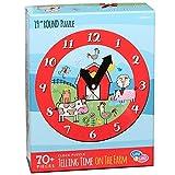 C.R. Gibson Farm Animals Clock Jigsaw Puzzle Kids, 70pc