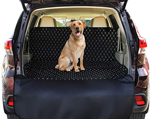 (SUV Cargo Liner Cover For SUVs and Cars, Waterproof Material , Non Slip Backing, Extra Bumper Flap Protector, Large Size - Universal Fit)