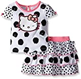 Hello Kitty Baby Girls' 2pc Top and Skirt Set, Multi-Color, 24 Months