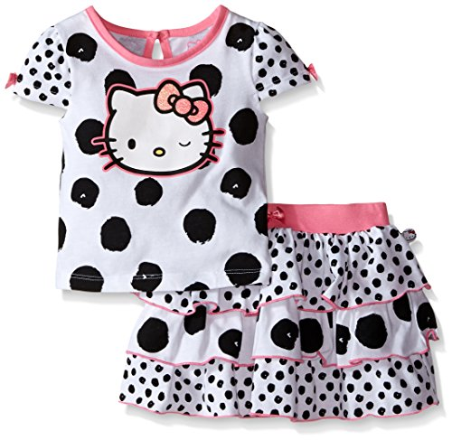 (Hello Kitty Baby Girls' 2pc Top and Skirt Set, Multi-Color, 12 Months )