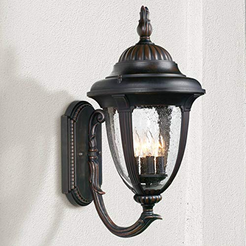 Casa Sierra Traditional Outdoor Wall Light Fixture Colonial Style Bronze 23 1/2