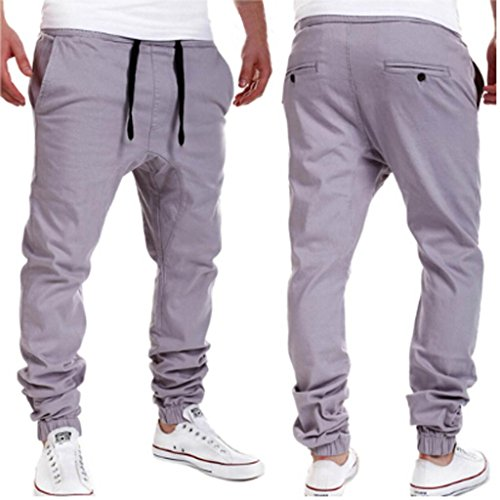 Men's Casual Jogger Elastic Pants, Fashion Leisure for sale  Delivered anywhere in Canada
