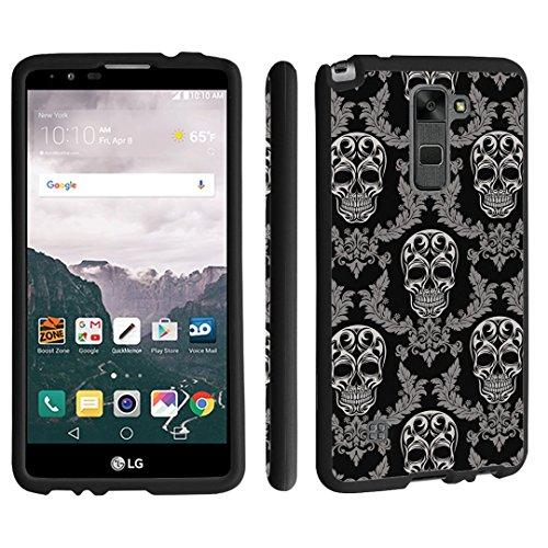 LG Stylo 2 Case / LG Stylus 2 Case, DuroCase ® Hard Case Black for LG Stylo 2 LS775 / LG Stylus 2 K520 (Released in 2016) - (Skull Vintage ()