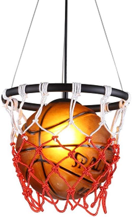 Lustre Lampe Suspension Vintage Basketball Et Filets Tresse Suspension Intérieur Rétro Réglable En Métal Acrylique Table À Manger Lampe E27 Support de
